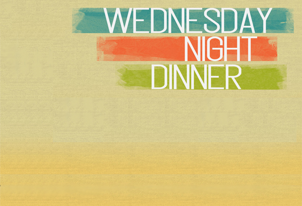 Wed Night Dinner Widget Image